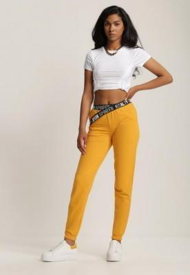 Żółte Spodnie Dresowe Salaphisha