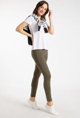 Gładkie legginsy damskie