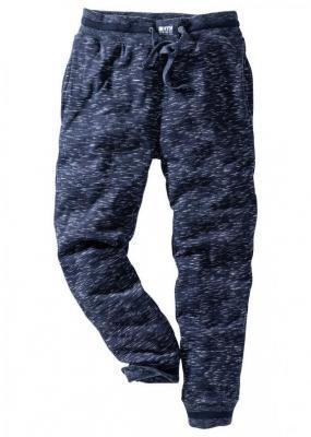 Spodnie sportowe bonprix ciemnoniebieski melanż