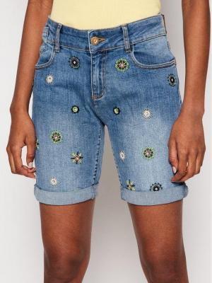 Desigual Szorty jeansowe Grecia 21SWDD18 Niebieski Slim Fit