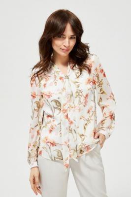Koszula w kwiaty z metaliczną nitką