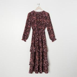 Sinsay - Sukienka maxi w kwiaty - Wielobarwny