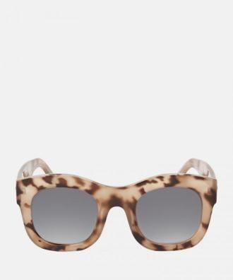 Brązowo beżowe okulary przeciwsłoneczne