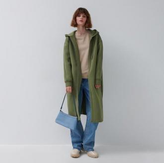 House - Płaszcz oversize z kapturem - Brązowy