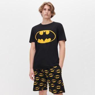 Reserved - Piżama z szortami Batman - Czarny