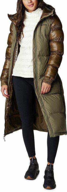 Columbia Pike Lake Long Jacket Women, oliwkowy XS 2021 Kurtki zimowe i kurtki parki