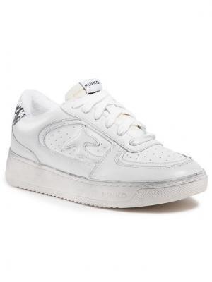 Pinko Sneakersy Liquirizia Low Top Sneaker. PE 21 BLKS1 1H20UH Y733 Biały