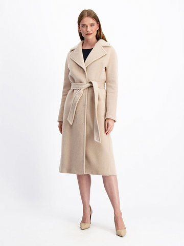 Wełniany płaszcz z domieszką moheru Lavard Woman 84712