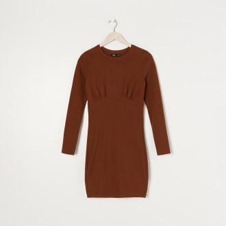 Sinsay - Sukienka ołówkowa - Bordowy