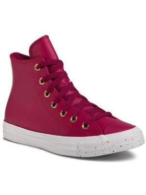 Converse Sneakersy Ctas Hi 566723C Fioletowy