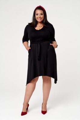 Czarna Sukienka FITO Plus Size