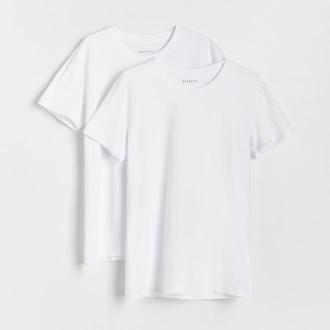 Reserved - Podkoszulek z krótkimi rękawami 2 pack - Biały