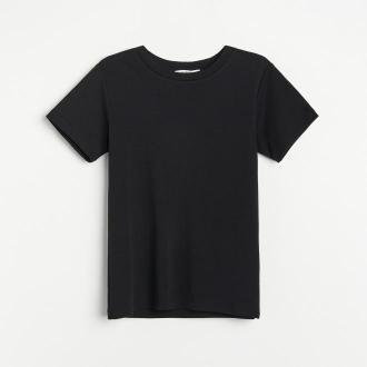 Reserved - PREMIUM T-shirt z bawełny organicznej - Czarny