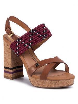 Wrangler Sandały Ribbon Blondie WL01561A Brązowy