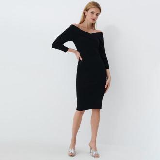 Mohito - Sukienka z odkrytymi ramionami - Czarny