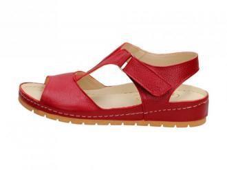Czerwone POLSKIE sandały damskie GREGORS 910