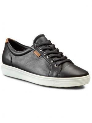 ECCO Sneakersy Soft 7 Ladies 43000301001 Czarny