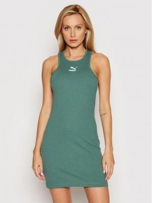 Puma Sukienka codzienna Classics Summer 599591 Zielony Regular Fit