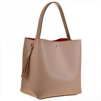 Vezze torebka skórzana modny wzór l róż pudrowy