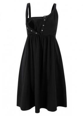 Sukienka ciążowa i do karmienia, z bawełny organicznej bonprix czarny