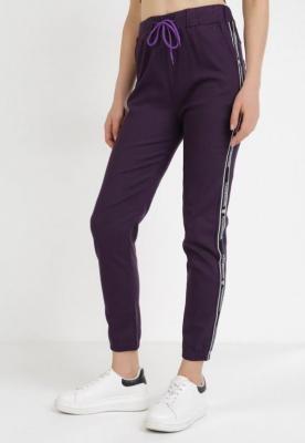Ciemnofioletowe Spodnie Joggery Zrixynore