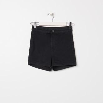Sinsay - Szorty high waist skinny ECO AWARE - Czarny