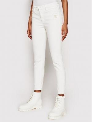 Desigual Jeansy Alba 21SWDD10 Biały Skinny Fit