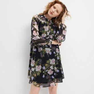Mohito - Sukienka w kwiatowy wzór - Czarny