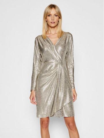 Sukienka koktajlowa 253816865001 Złoty Slim Fit