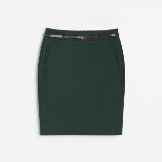 Reserved - Ołówkowa spódnica - Khaki