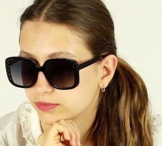 Oversizoweo okulary przeciwsłoneczne MAZZINI SIMPLE BEAUTY czarny