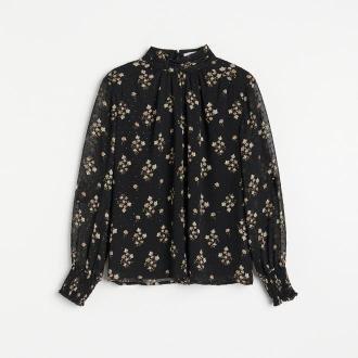 Reserved - Zwiewna bluzka w kwiaty - Wielobarwny