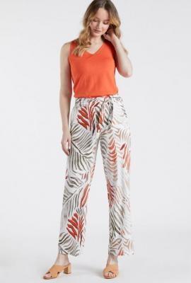 Luźne wzorzyste spodnie