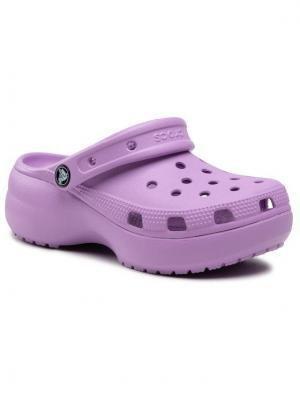 Crocs Klapki Classic Platform Clog W 206750 Fioletowy