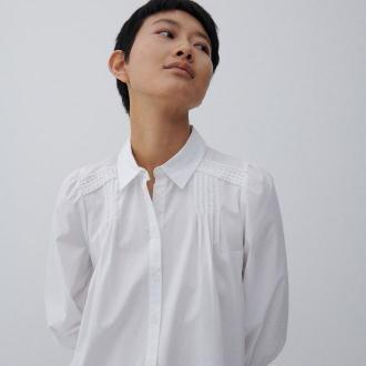 Reserved - Bluzka z bawełny organicznej - Biały