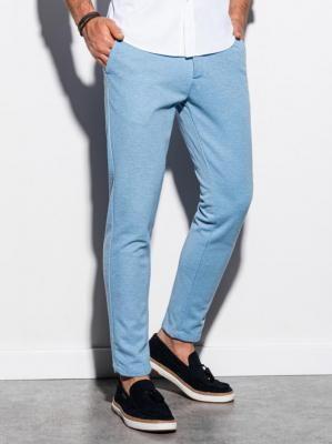 Spodnie męskie chino P891 - błękitne - XL