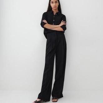 Reserved - Gładka koszula z EcoVero™ - Czarny