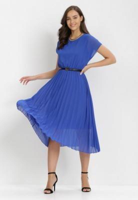 Granatowa Sukienka Naitea