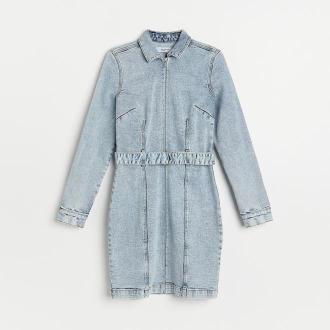 Reserved - Denimowa sukienka - Niebieski