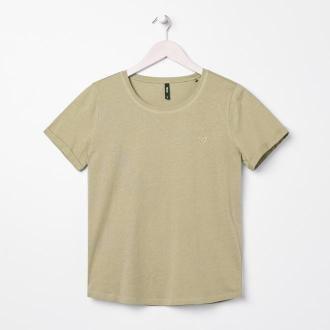 Sinsay - Koszulka z haftem - Zielony