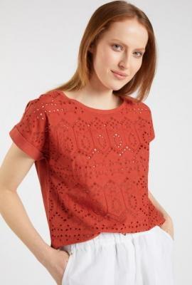 Ażurowa bawełniana bluzka