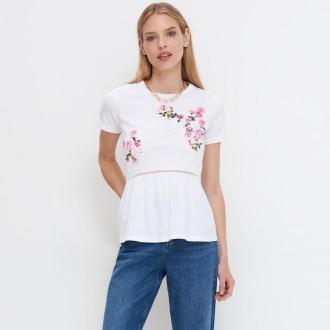 Mohito - Bluzka z kwiatowym nadrukiem Eco Aware - Biały