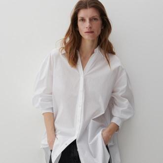 Reserved - Bawełniana koszula - Biały