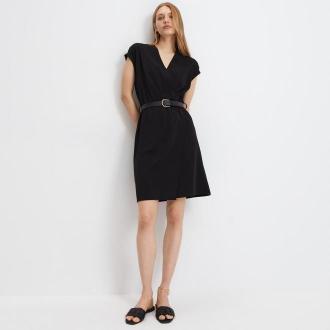 Mohito - Sukienka z paskiem Eco Aware - Czarny