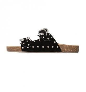 Skórzane sandały z ćwiekami