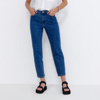 House - Mom jeans slim - Granatowy
