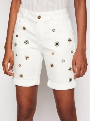 Desigual Szorty jeansowe Grecia 21SWDD18 Biały Slim Fit