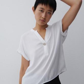 Reserved - Bluzka z wiskozy - Biały
