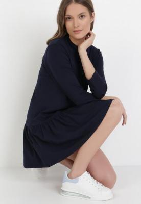Granatowa Sukienka Prixiche