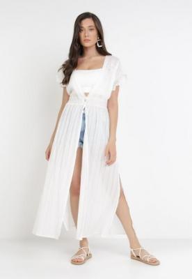 Biała Sukienka Plażowa Castionis